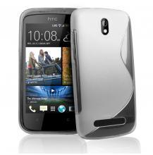 Силиконов калъф / гръб / ТПУ S style за HTC Desire 500 - прозрачен