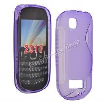 Силиконов калъф ТПУ S style за Nokia Asha 200 - Лилав